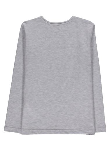 Morhipo Kids Uzun Kol  Baskılı T-shirt Gri